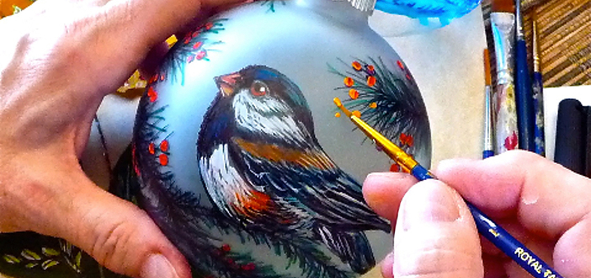 Christmas Ornament Painting with Jane Stroschin